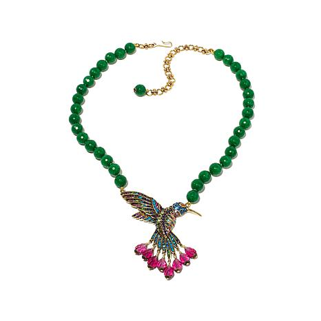 "Heidi Daus ""Sincere Joy"" Beaded Crystal Drop Necklace"