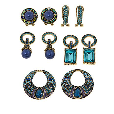 """Heidi Daus """"Sparkling Solution"""" Crystal-Accented Earring Set"""