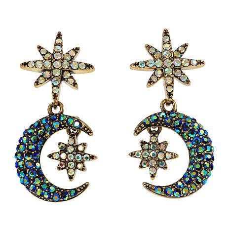"Heidi Daus ""Star Light, Star Bright"" Crystal Drop Earrings"