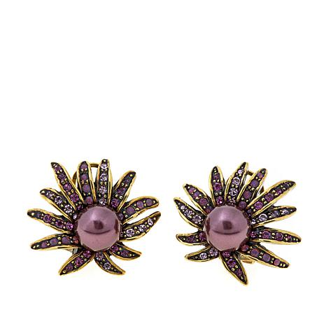 "Heidi Daus ""Sublime Star"" Crystal-Accented Earrings"