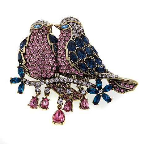 "Heidi Daus ""Sweet Love"" Crystal Pin"