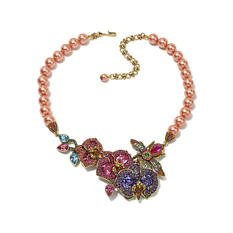 "Heidi Daus ""The Bee's Knees"" Beaded Drop Necklace"