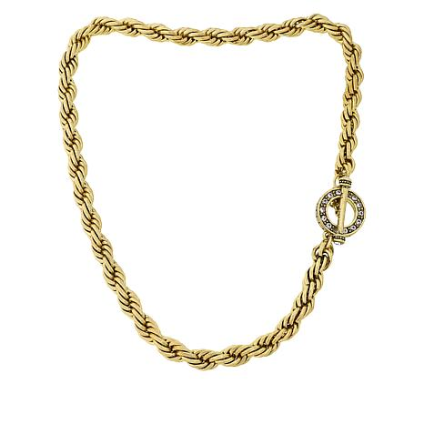 """Heidi Daus """"Thoroughly Modern"""" Rope-Link Chain Necklace"""