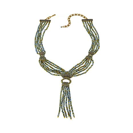 "Heidi Daus ""Upper East Side"" Tassel Drop Necklace"