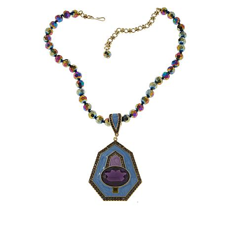 """Heidi Daus """"Well Connected"""" Enhancer Pendant and 17"""" Beaded Necklace"""