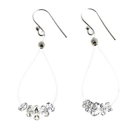 "Herkimer Mines ""Diamond"" Quartz 4.68ctw Drop Earrings"