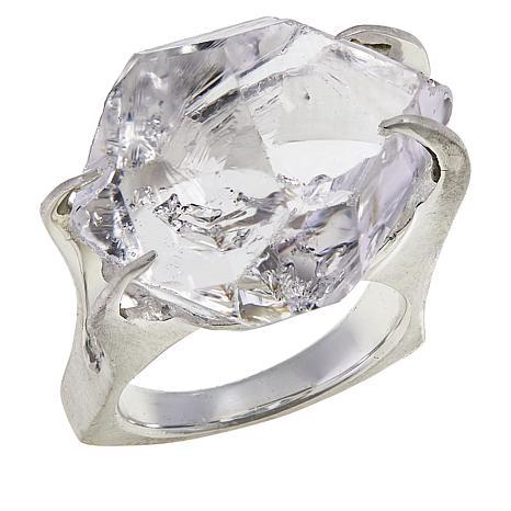 "Herkimer Mines Sterling Silver ""Diamond"" Quartz ""Mambo"" Ring"