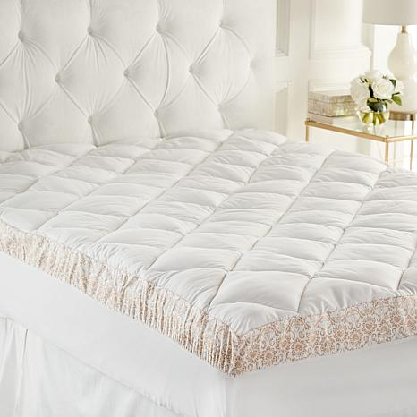 Highgate Manor Printed Gusset Jacquard Design Mattress Pad