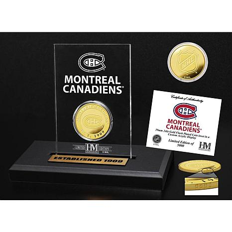 Highland Mint Montreal Canadiens Gold Coin Etched Acrylic