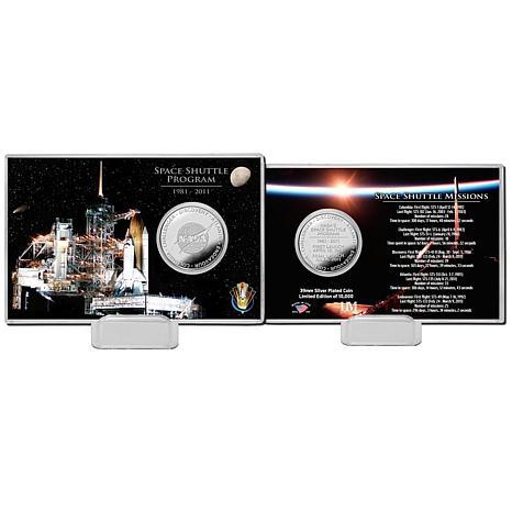 Highland Mint Space Shuttle Program Night Silver Coin Card