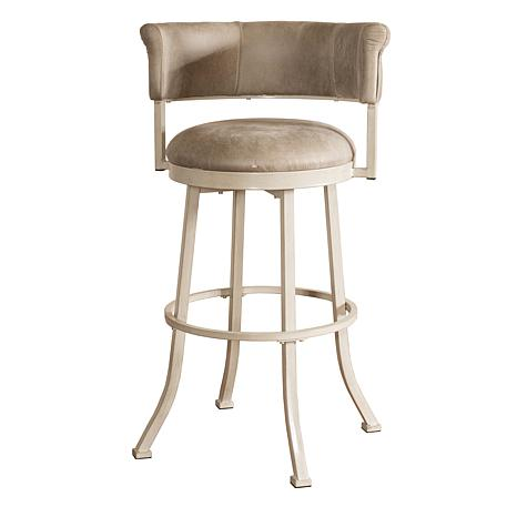 Hillsdale Furniture Westport Swivel Counter Stool Gray Faux