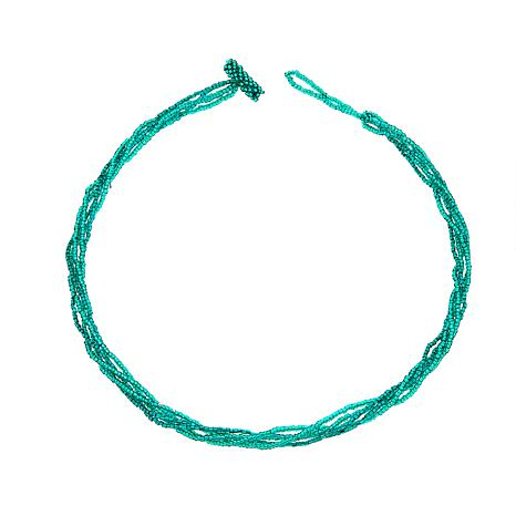 Himalayan Gems™ 5-Strand Green Potay Bead Necklace