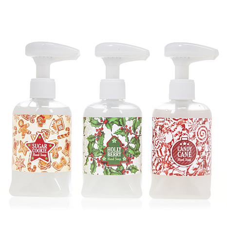 Holiday 3-pack of Hand Soaps with Musical Pumps