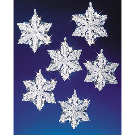 Holiday Beaded Ornament Kit - Snow Crystals