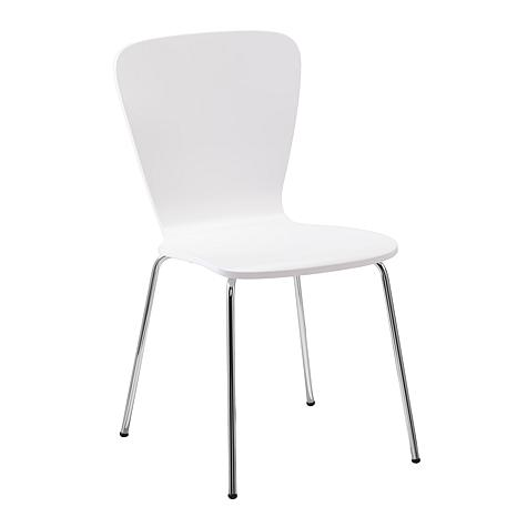 Holly & Martin Cadby 2pc Bentwood Side Chairs - White