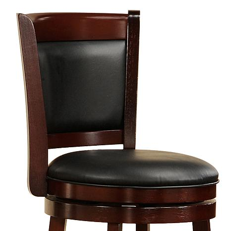 24 Cherry Swivel And Padded Back Counter Height Chair