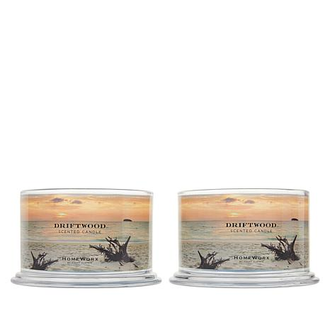 HomeWorx by Harry Slatkin 2-pack 4-Wick Candles - Driftwood
