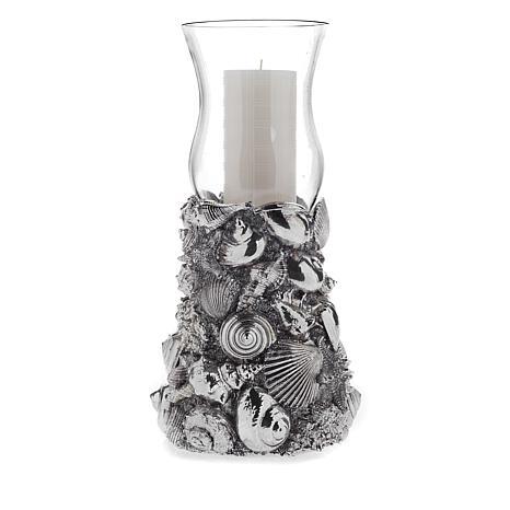 HomeWorx by Harry Slatkin Seashell Hurricane Pillar Candle