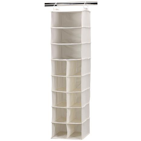 Household Essential 10-Pocket/3-Shelf Organizer-Natural