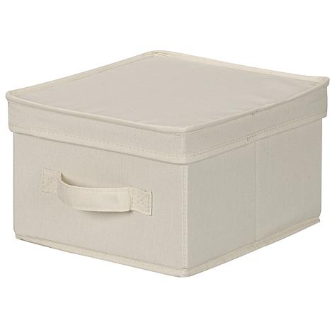 Household Essentials Canvas Medium Storage Box- Natural