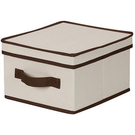 Household Essentials Canvas Medium Storage Box/Natural