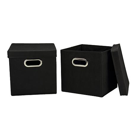 Household Essentials Storage Cube 2-pack - Black