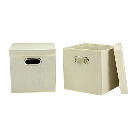 Household Essentials Storage Cube 2-pack - Natural