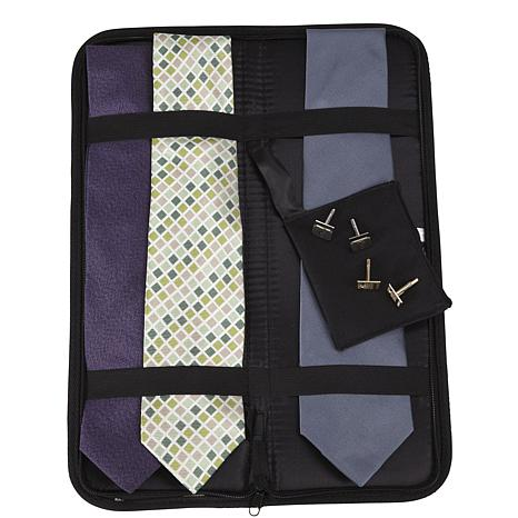 Household Essentials Travel Tie Case - Black
