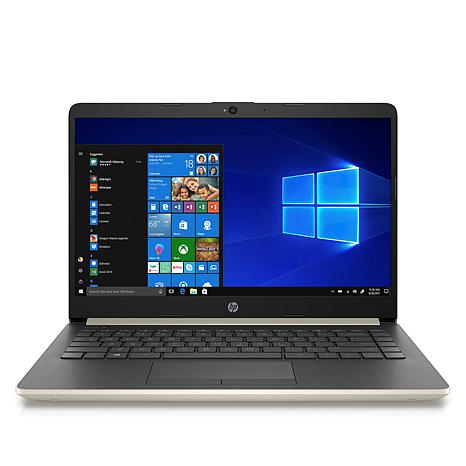 """HP 14""""  AMD A4 Dual-Core 64GB eMMC Laptop with Office & Tech Support"""
