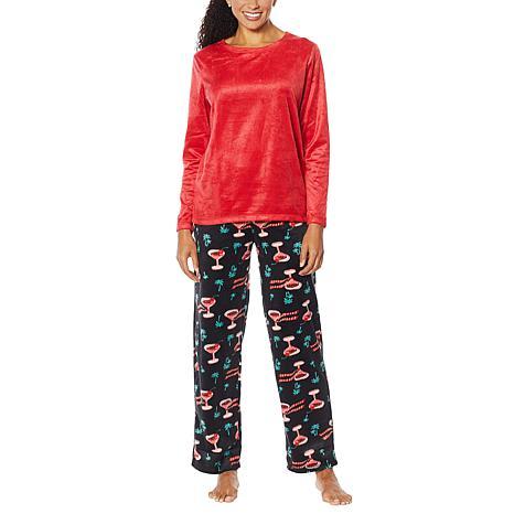 HUE 2-piece Sueded Fleece Pajama Set