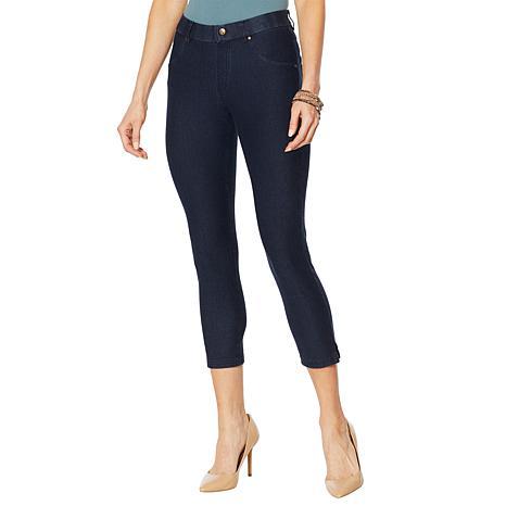 HUE Essential Denim Capri Legging - Plus