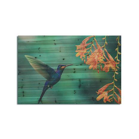 Hummingbird 24x36 Print on Wood