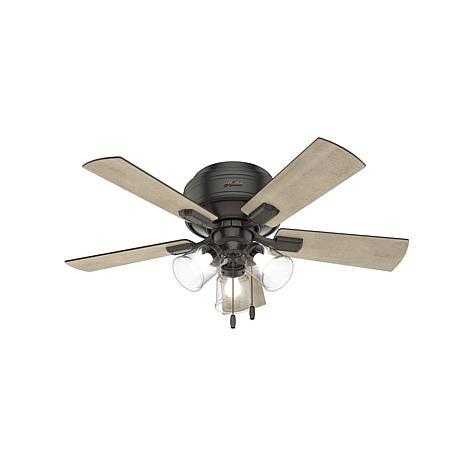 "Hunter 42"" Crestfield Bronze Ceiling Fan w LED Light Kit & Pull Chain"