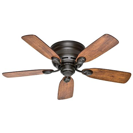 """Hunter 42"""" Low Profile New Ceiling Fan with Pull Chain - Bronze"""