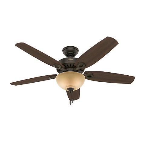 """Hunter 52"""" Builder Bronze Ceiling Fan w LED Light Kit and Pull Chain"""