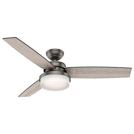 """Hunter 52"""" Sentinel Ceiling Fan with LED Light Kit and Remote"""