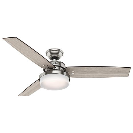"Hunter 52"" Sentinel Ceiling Fan with LED Light Kit and Remote"