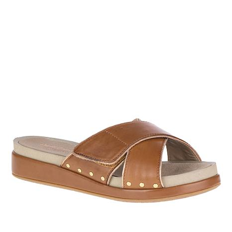 Hush Puppies Chrysta Leather X-Band Slide