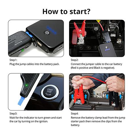 iDeaPLAY Vehicle Jump Starter & Portable Power + 3-in-1 Emergency Tool