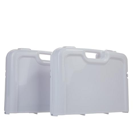 IdeaWorks Folding Storage Trays 2-pack