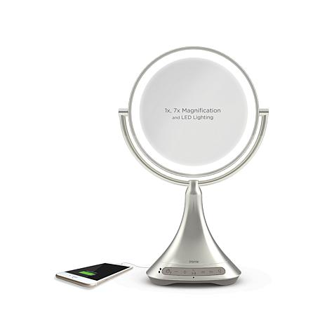 Ihome 9 Quot Double Sided Bluetooth Led Lighted Vanity Mirror