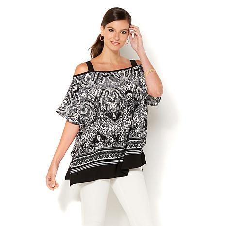 IMAN Global Chic Luxury Resort Cold-Shoulder Tunic