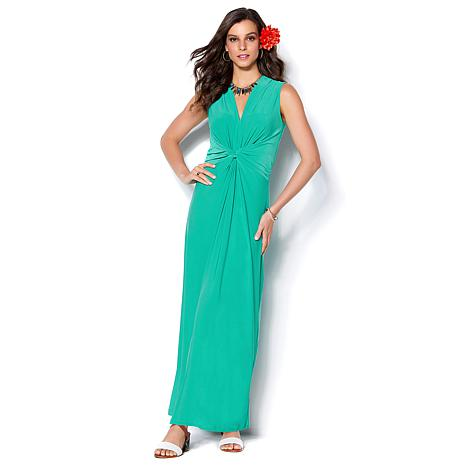 8447ecca3d9 IMAN Global Chic Luxury Resort Knockout Maxi Dress and Necklace - 8644139