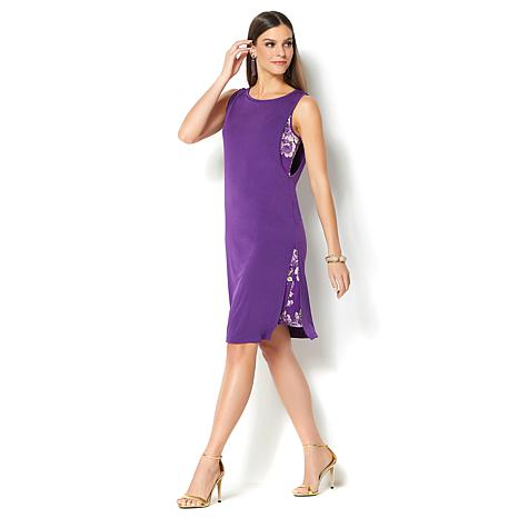 IMAN Global Chic Luxury Resort Slimming Layer Dress