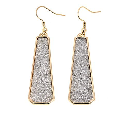 IMAN Global Chic Simply Gorgeous Shimmer Pavé Drop Earrings