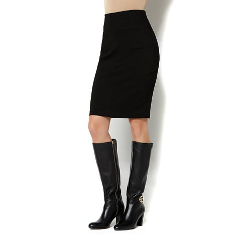 IMAN Platinum Perfect Ponte Slimming Pencil Skirt