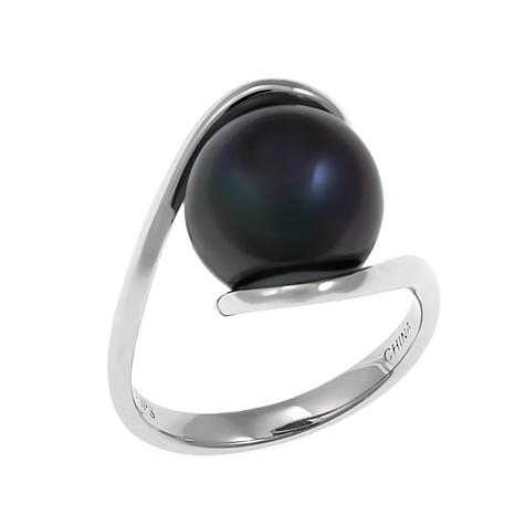 Imperial Pearls 11-12mm Peacock Cultured Pearl  Bypass Ring