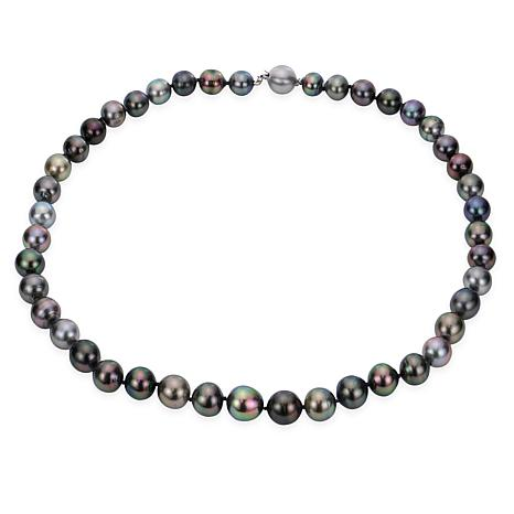 """Imperial Pearls 14K 8-10mm Cultured  Tahitian Pearl Necklace - 18"""""""