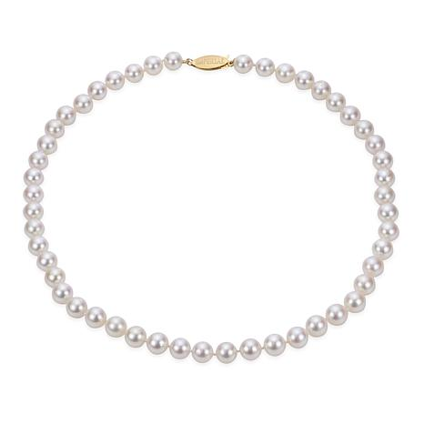 """Imperial Pearls 16"""" 14K Gold 7-7.5mm Cultured Akoya Pearl Necklace"""
