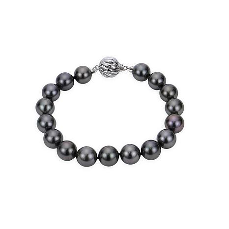 "Imperial Pearls 18K 9-10mm Cultured  Tahitian Pearl 7-1/2"" Bracelet"